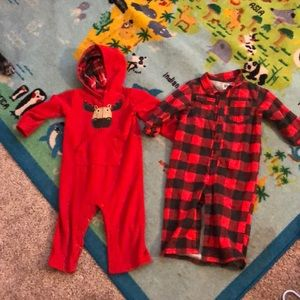 24 month winter coverall bodysuit bundle